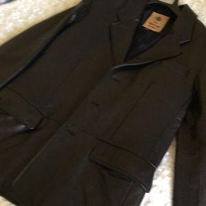 The Territory Ahead Men's Leather Black Blazer